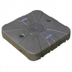 Outsunny Base para guarda-sol recarregável com areia e água com 4 rodas Suporte metálico para jardim 88x88x19 cm marrom