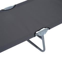 Outsunny Espreguiçadeira Dobrável Cinzento Oxford Ferro 187 x 58 x 27 cm