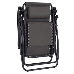 Outsunny Espreguiçadeira dobrável em Textilene Encosto reclinável Carga de armação de aço 150kg