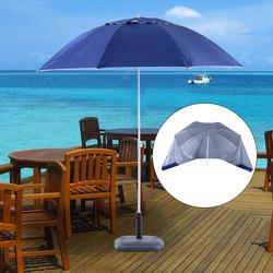 Outsunny Guarda-sol para praia e jardim com painéis laterais - cor azul - poliéster, ferro e plástico - Φ210x222cm