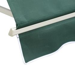 Toldo da janela de Outsunny Toldo Manual Alumínio Retrátil para exterior toldo do balcão tela impermeável do poliéster do ângulo ajustável 180x70Cm verde