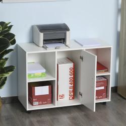 Vinsetto Armário para Escritório de Impressora com Espaço de Armazenamento e Rodas 100x 40 x 71 cm branco