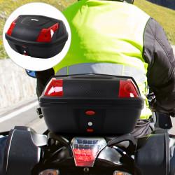 HOMCOM Baú da motocicleta Capacidade 48L Bloquear com duas chaves Acessórios 58x44,5x33,5cm
