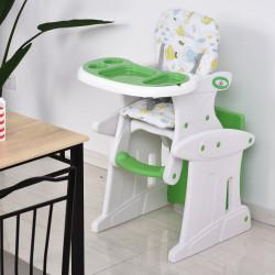 HOMCOM Cadeira para bebês acima de 6 meses 3 posições ajustáveis Acolchoado Verde