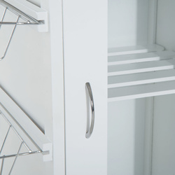 HOMCOM Carrinho de Cozinha de madeira 70x37x85 cm