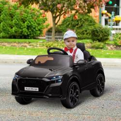 HOMCOM Carro Elétrico Infantil acima de 3 anos Licença Audi RS Q8 com Bateria 6V Controle a Distância Música MP3 Buzina e Luzes Velocidade Máx. 3km/h 101x62x51cm Preto