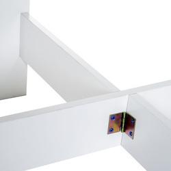 HOMCOM Mesa Dobrável Cozinha Sala de estar Mesa de apoio com 2 Abas Rebatíveis Economiza Espaço Design Moderno 103x76x73,5 cm Madeira