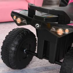 HOMCOM Quadriciclo andarinho para crianças acima de 18 meses com luzes e música 67.5x38x44 Rosa