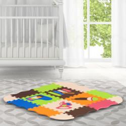 HOMCOM Tapete puzzle infantil com 25 peças de espuma EVA macia Área de cobertura de 9 m² Modelo de instrumentos musicais 120x90,5x16,5 cm multicoloridos