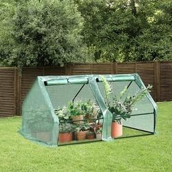 Outsunny Estufa para Jardim Terraço Viveiro para Jardim para Plantas com 2 Portas 180x90x90 cm Cor Verde Tubo de aço PE com janela