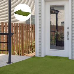 Outsunny Grama artificial 1x4 m Espessura 30mm Realística para Terraço Jardim Varanda com Furos de Drenagem Verde