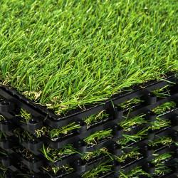 Outsunny Grama artificial Terraço Grama sintética Conjunto de 10 peças 30x30x3.5cm