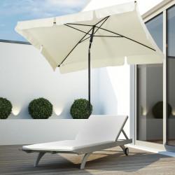 Outsunny guarda-sol de jardim, terraço, pátio - Cor bege - Poliéster, Alumínio e Ferro - 200x125x235cm