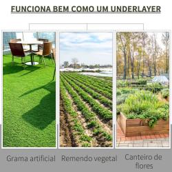 Outsunny Malha Geotêxtil 1x50 m Malha de Jardim Contra Ervas Daninhas 100 g / m² Rolo de Malha Preto