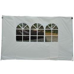 Outsunny Paredes Laterais com janelas para pérgulas branca Oxford 3x2m