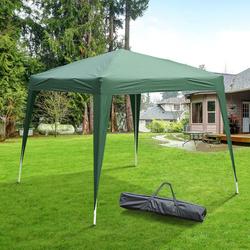 Outsunny Tenda Dobrável para Exterior para Jardim parque de campismo Festa Loja Eventos – Cor Verde Escuro – Aço e Oxford - 3 x 3m