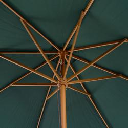 Guarda-sol Verde Madeira Terraço Praia Jardim Piscina Camping 245x300cm