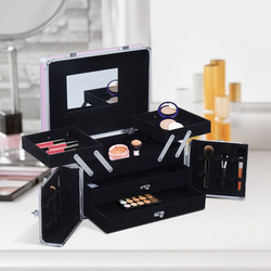 HomCom® Mala para Maquilhagem Organizador Cosméticos Profissional 29x21x20cm