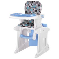 HOMCOM Cadeira para bebês acima de 6 meses 3 posições ajustáveis Acolchoado azul
