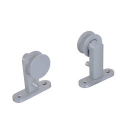 HOMCOM Kit de instalação de porta de alumínio prateado 200x3,15x2,5cm