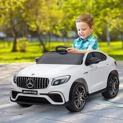 HOMCOM Mercedes AMG Carro elétrico para crianças de a partir de 3 anos com controle remoto com música e luzes Carga 30kg 115x70x55cm