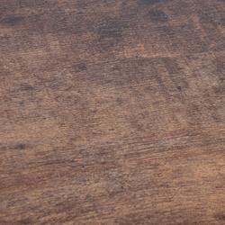 HOMCOM Mesa Auxiliar com RodasEstilo Retro de Aço e Madeira 51x36x61 cm