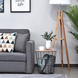 HOMCOM Mesa de centro para sofá Com espaço de armazenamento Estilo Industrial