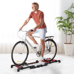 HOMCOM Rolo de Bicicleta Dobrável Ajustável Interior 146x55x10,5cm Vermelho e Preto