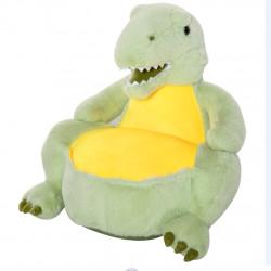 HOMCOM Sofá em forma de dinossauro para crianças acima de 18 meses com assento acolchoado 60x55x59cm Verde