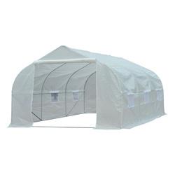 Outsunny® Estufa Plástico Branco 450x300x200cm
