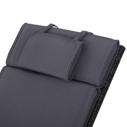Outsunny Colchão Suave para Espreguiçadeira Almofada Dobrável Cobertas Acolchoadas para Exterior 198x53x5cm