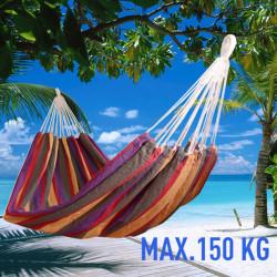 Outsunny rede para Pendurar na Praia Jardim ou Piscina - Multicolor - 70% Algodão - 200x100cm