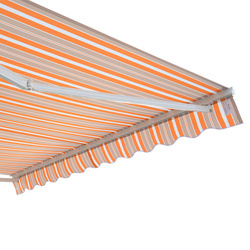 Outsunny Toldo de Parede cro Branco bege e laranja Alumínio 3 x 2,5 m