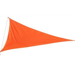 Outsunny Toldo Vela Triângulo tipo Guarda-sol para Varanda Jardim ou Campismo - Cor: Laranja - Polietileno - 3 x 3 x 3 m