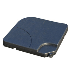 Base de Guarda-sol ou Pé para Guarda-sol– preto –Plástico – 50 x 50 x 7,5 cm