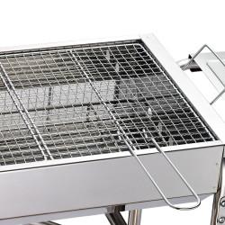 Churrasqueira a carvão Acampamento dobrável Cor prateado - Aço - 104 x 30 x 68cm