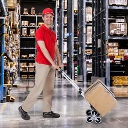 DURHAND Carrinho de mão portátil para escada com rodas carrega carrinho dobrável de 70 kg para o mercado e armazéns de entrega