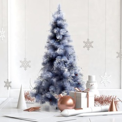 HOMCOM Árvore de natal 150 cm Pinheiro Artificial Decoração de Natal com Peças de Decoração 222 Ramos Cinza Metal PET