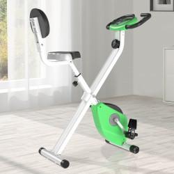 HOMCOM Bicicleta estática para exercícios profissionais Altura ajustável 43x97x109 cm Verde