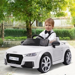 HOMCOM Carro elétrico infantil acima de 3 anos com controle remoto com música e luzes Bateria 6V 30 kg 103x63x44cm