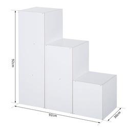 HOMCOM Estante em Forma de Escada Armário de Arrumação 6 Cubos Estante de Pé Estante de Exposição 91,5x29,5x91,5cm Madeira