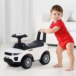 HOMCOM Quad andarilhos Carro Infantil sem Pedais para Bebê Estilo de Carreira de Andador de Brinquedo com Alto-falante 60x38x42cm