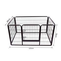 Jaula Cercado Mascote Cão Gato Estrutura Metálica Ferro Galvanizado125 x 80 x 70 cm