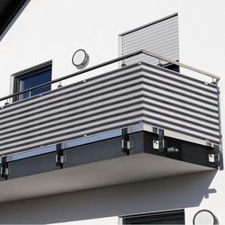 Outsunny 2 Peças de Revestimento de Varanda Tela de proteção de privacidade HDPE 500x90cm com cordas