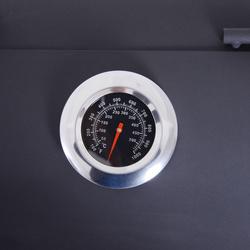 Outsunny Churrasqueira a Carvão 3 em 1 com Termômetro, Rodas e Prateleiras De Madeira 124x53x108cm