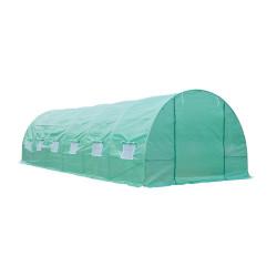 Outsunny Estufa para Terraço ou Jardim - de Cor Verde - Aço Polietileno - Dimensões de 8 x 3 x 2 m
