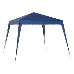 Outsunny Tenda dobrável 3x3m Gazebo de jardim Pop Up Desenho de aço e capa de tecido Oxford azul