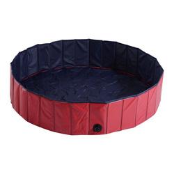 PawHut Piscina para Animais de Estimação Vermelha PVC Φ 140 x 30 cm