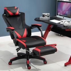 Vinsetto Cadeira de escritorio gaming ergonômica Altura ajustável Encosto ajustável Vermelho