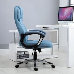 Vinsetto Cadeira de escritório Poltrona giratória Poltrona de escritório Altura ajustável ergonômica 110-120cm Carga 135kg